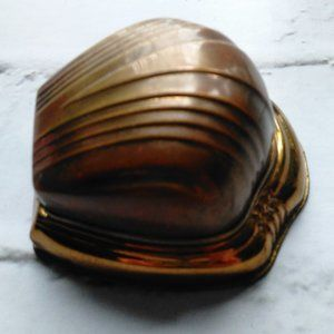 Antique Men's Hinged Clamshell Ring Box